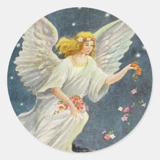 Ángel del Victorian del navidad del vintage con lo Etiquetas