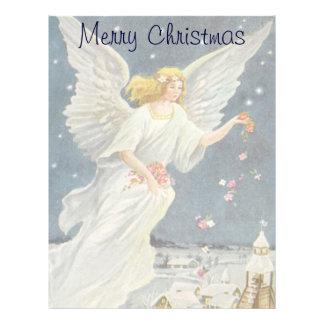 Ángel del Victorian del navidad del vintage con Membrete A Diseño