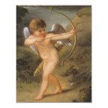 Ángel del vintage, Cupid que inspira el amor de Anuncio