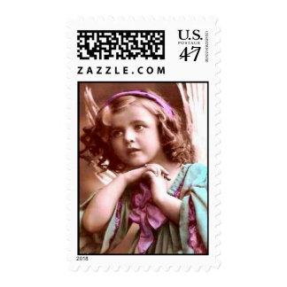 Ángel del vintage del navidad timbre postal