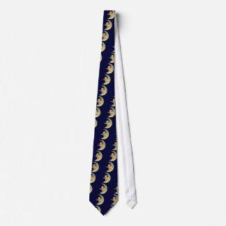 Ángel del vintage en luna corbata personalizada