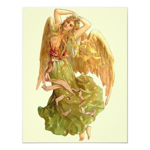 """*Angel* del vintage Invitación 4.25"""" X 5.5"""""""
