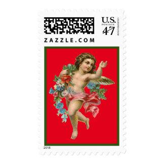 Ángel del vintage timbres postales