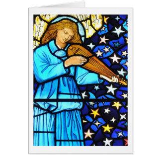 Ángel del vitral de William Morris Tarjeta De Felicitación