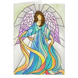 Ángel del vitral tarjeton
