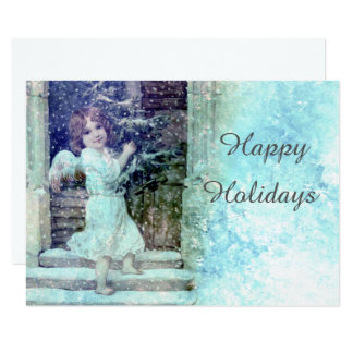Angel Delivering A Holiday Tree Card
