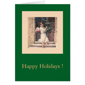Angel Delivery Vintage Christmas Card
