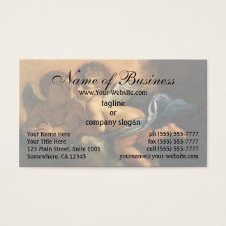 Angel detail, Patron Saints of Modena by Guercino Business Card