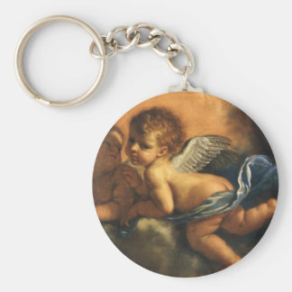 Angel detail, Patron Saints of Modena by Guercino Keychain