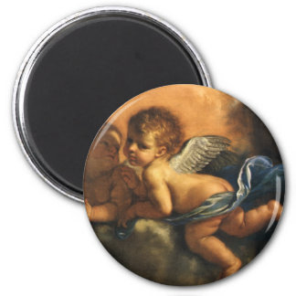 Angel detail, Patron Saints of Modena by Guercino 2 Inch Round Magnet