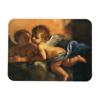 Angel detail, Patron Saints of Modena by Guercino Rectangular Photo Magnet