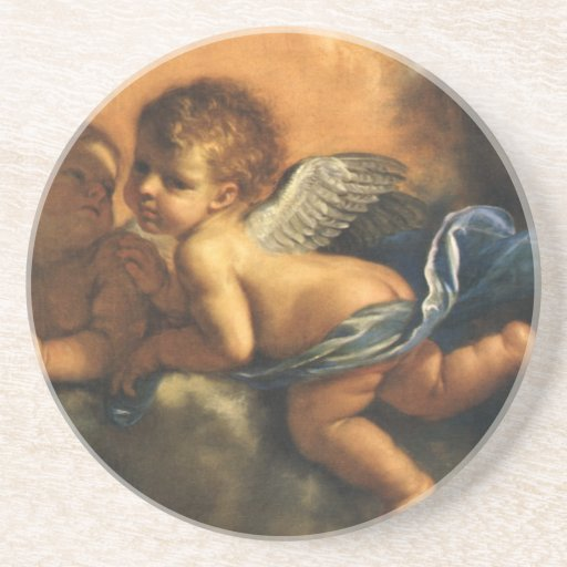 Angel detail, Patron Saints of Modena by Guercino Sandstone Coaster