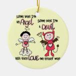 Angel Devil Christmas Tree Ornaments