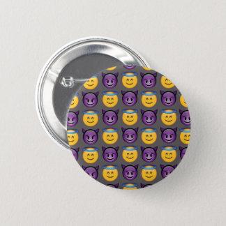 Angel & Devil Emojis Pinback Button
