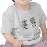 ¡ángel-diablo!  Bebé-luz del texto Camisetas