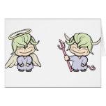 ¡ángel-diablo!  ¡Personalizable! Tarjetas