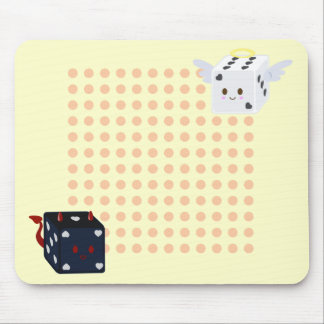 Angel Dice & Devil Dice with Polka Dots Mouse Pad