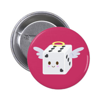 Angel Dice with Hearts Button
