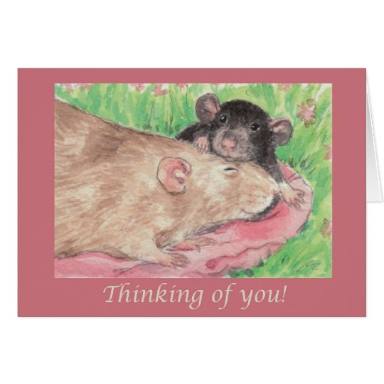 Angel & Digit Thinking of You Card