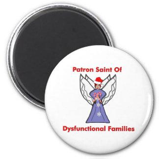 Ángel disfuncional de las familias imán redondo 5 cm