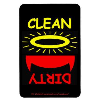 Ángel divertido del diablo del imán del lavaplatos