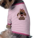 Ángel divertido del perro camisa de mascota