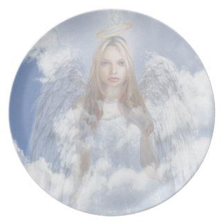Ángel divino platos para fiestas