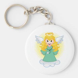 Angel Doctor Scrubs Keychain