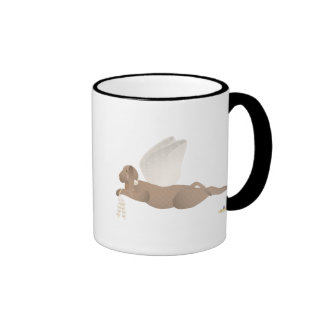 Angel Dog Brown Orange Roses Coffee Mug