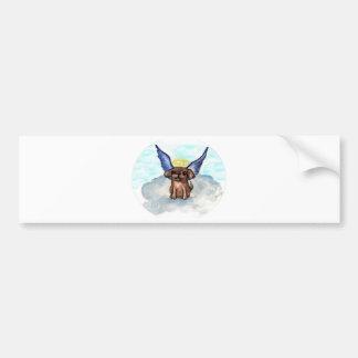 Angel dog bumper sticker