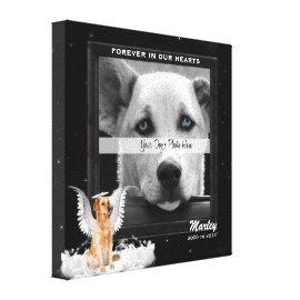 Angel Dog Pet Memorial Photo Canvas Gallery Wrap Canvas