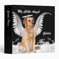 Angel Dog Scrapbook with Golden Retriever 3 Ring Binder