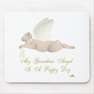 Angel Dog Tan Yellow Roses Guardian Angel Puppy Do Mouse Pad