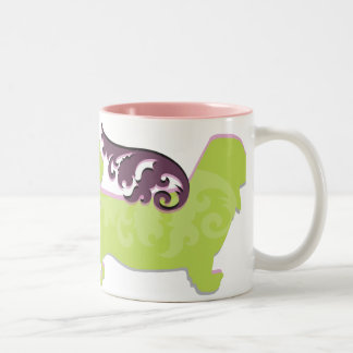 Angel Dog Two-Tone Coffee Mug