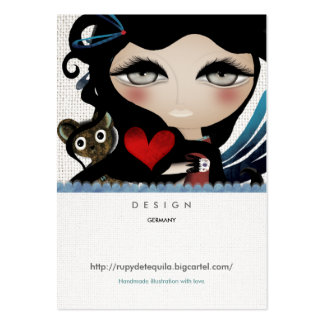 Angel doll sweet fairytale woman Business Cards