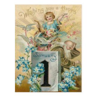 Angel Dove Forget Me Nots Cornucopia Postcard