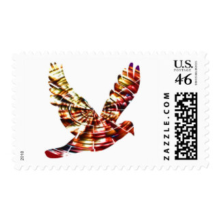 Angel Dove - Sparkling Red Cosmic Energy Stamp