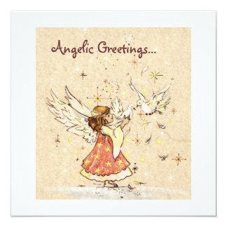 Angel & Doves Invitation