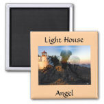 Angel Down By The Sea 2 Inch Square Magnet