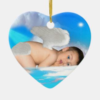ANGEL-DREAMS ANGELS-SIGH-HEART-ORNAMENT CERAMIC ORNAMENT