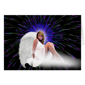 ANGEL DREAMS EXPLOSIONS OF COLORS GREETING CARD
