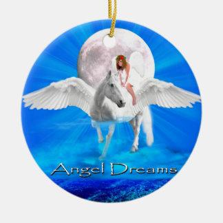 ANGEL DREAMS MYSTIC-PEGASUS-ORNAMENT CERAMIC ORNAMENT