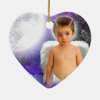 ANGEL-DREAMS NAUGHTY-BUT-NICE-HEART-ORNAMENT CERAMIC ORNAMENT