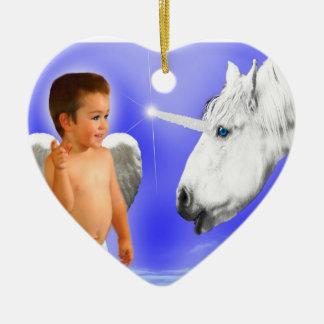 ANGEL-DREAMS THAT-WAY- -UNICORN-HEART-ORNAMENT CERAMIC ORNAMENT