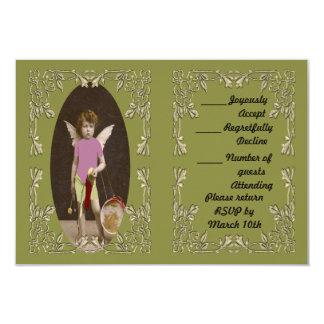 Angel Drum Girl 3.5x5 Paper Invitation Card