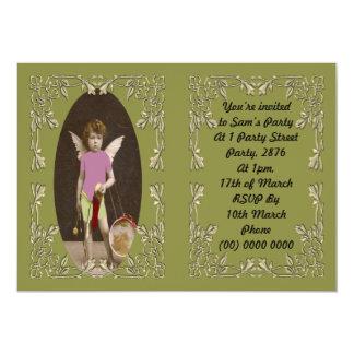 Angel Drum Girl Card