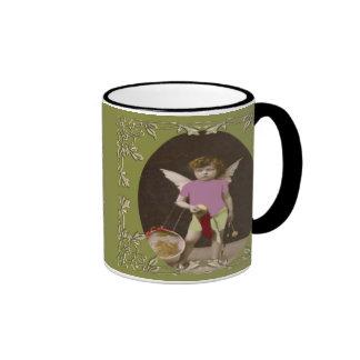 Angel Drum Girl Ringer Coffee Mug