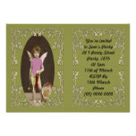 Angel Drum Girl Personalized Invites