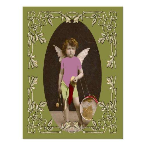 Angel Drum Girl Post Card