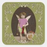 Angel Drum Girl Sticker